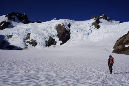 Daniel leads us across the flat glacier.