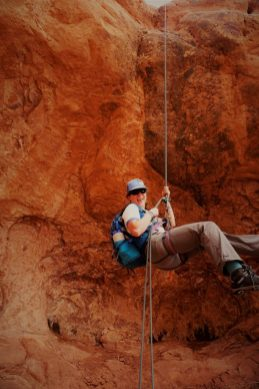 And it ended with a free-hanging rappel!