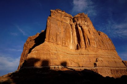 Huge sandstone towers in Arches!