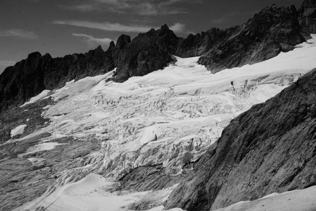 Looking back on the Terror Glacier.