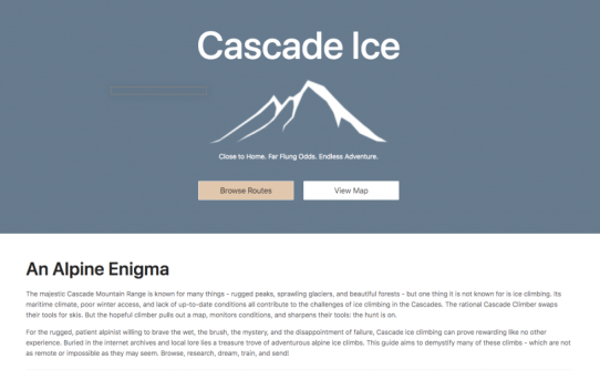 Cascade Ice Guidebook