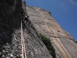 Easy Rider a la Paret de l'Aeri, Montserrat, Espagne 13