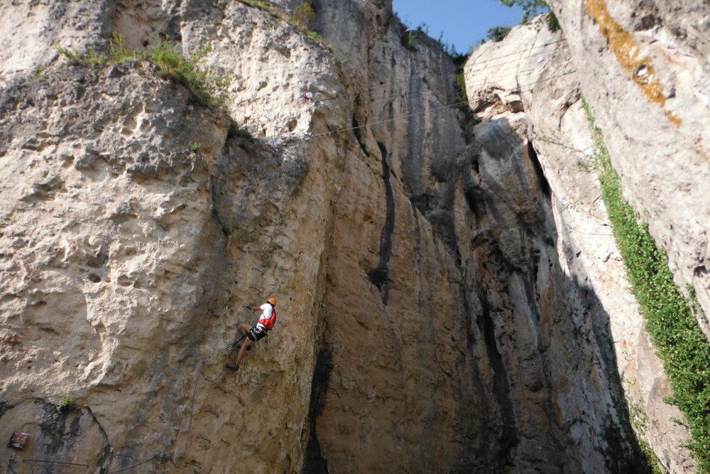 Ferrata de Liaucous, Aveyron 24