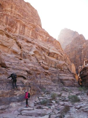 18. grimper à gauche, wadi fermé