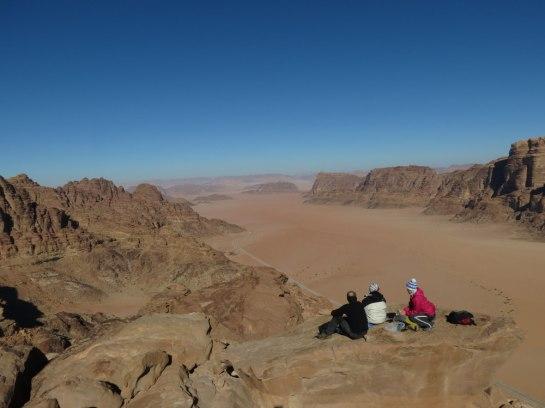Entrée du wadi Rum depuis le sommet