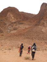 Thamudic route au Jebel Rum, Wadi Rum, Jordanie 4