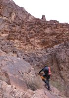 Thamudic route au Jebel Rum, Wadi Rum, Jordanie 6