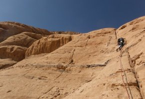Orange Sunshine, Burdah Rock, Wadi Rum, Jordanie 8