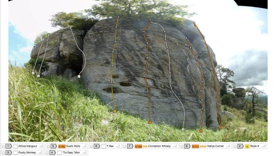 Topo Caveman Boulders