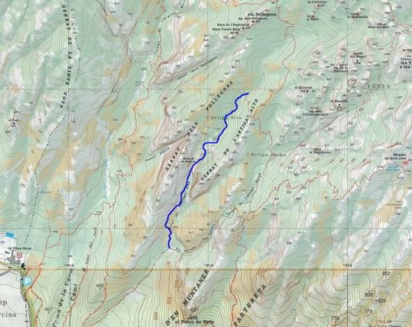 Canal de l'Artiga alta, Montserrat 4