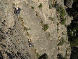 Escabroni Escapullini a la Miranda de Can Jorba, Montserrat, Espagne 11
