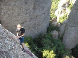 Aitor a l'Arbret, Agulles, Montserrat, Espagne 5
