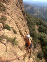 Dièdre Farreny a la Roca Alta, Vilanova de Meïa, Espagne 4
