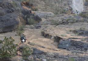 No Slicks, Pilier Ouest, Snake Canyon, Wadi Bani Awf, Oman 13