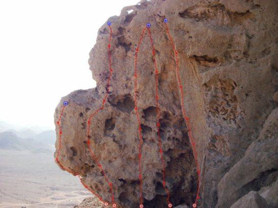 topo Fridge Nord Hatta Crag