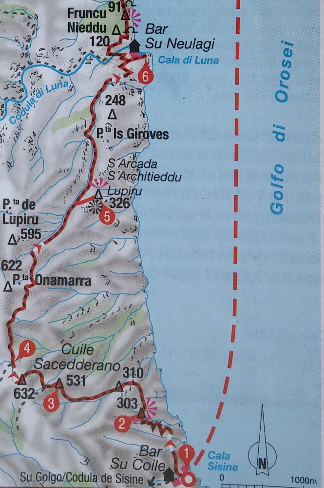 topo extrait du guide Rother (bas)