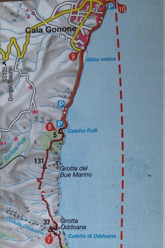 topo extrait du guide Rother (haut)