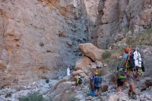 Mibam à Umq Bir, sentier bédouin, Wadi Tiwi, Oman 7