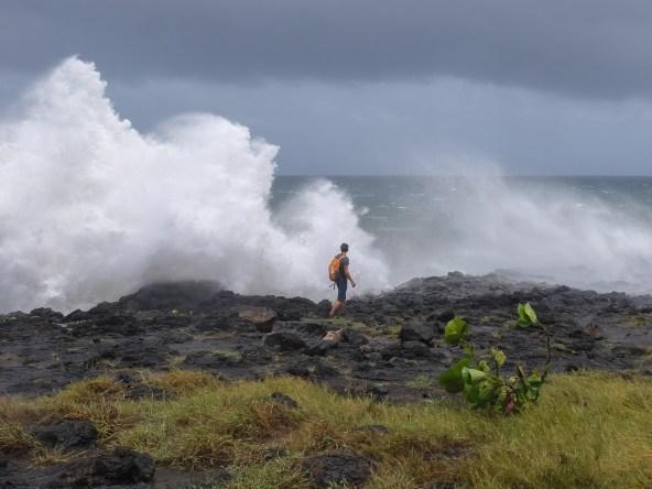 Dumazilé,  un cyclone passe au large, La Réunion 1