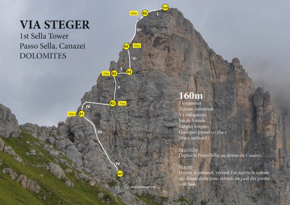 Via Steger, 1st Sella Tower, Canazei, Italie 2
