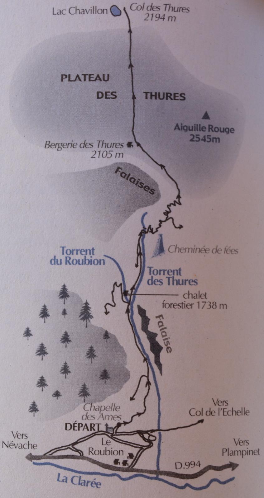 carte plateau des Thures