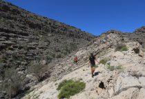 20. la crête pour accèder au canyon