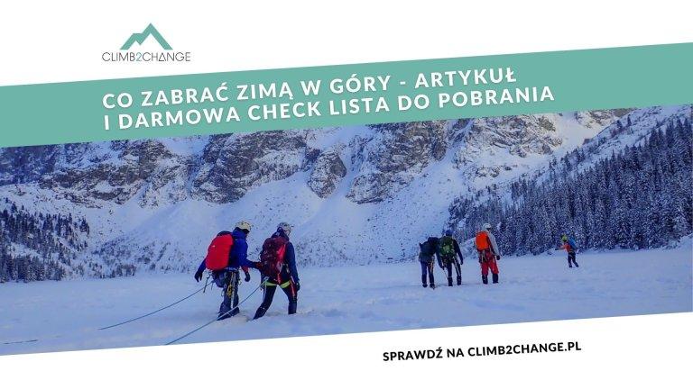 Pobierz darmową check-listę co zabrać zimą w góry