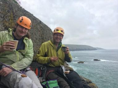 Tea break on Commando Ridge