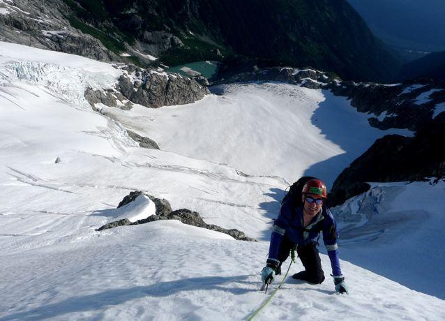 Steep snow Climbing