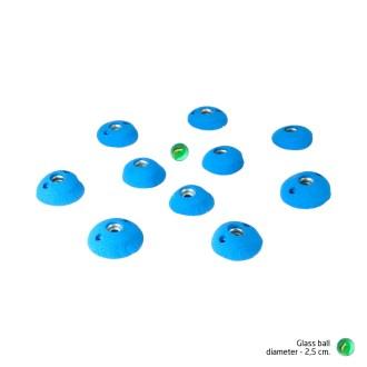 Glass Bead Game - Pompeian atoms XS- round