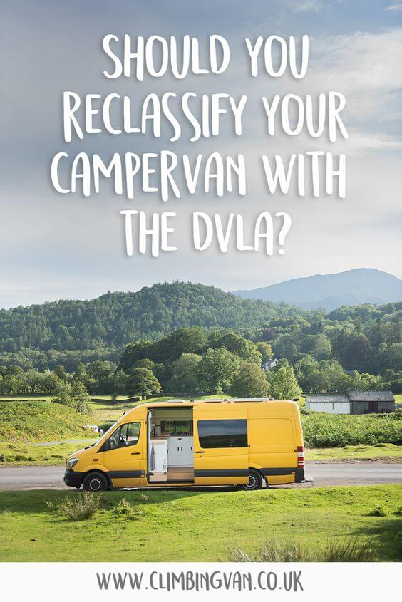 should you reclassify your campervan with the dvla
