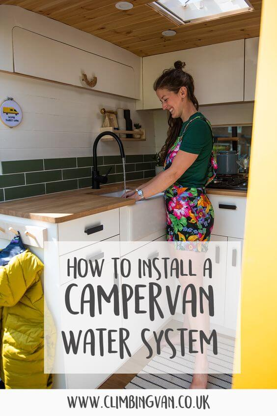 how to install a campervan water system