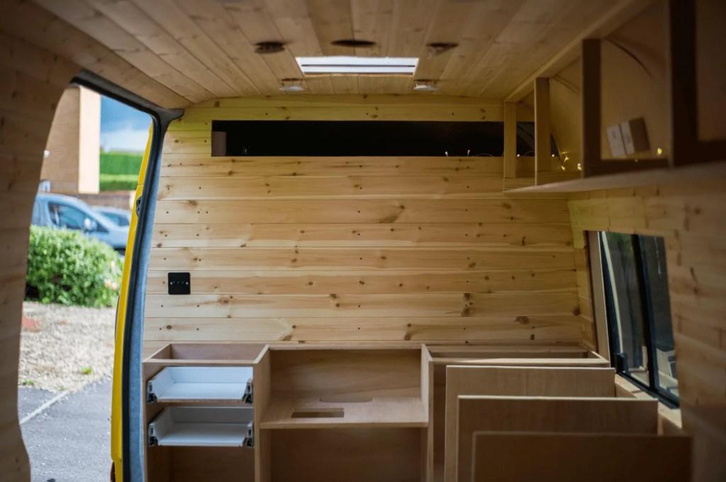 campervan kitchen unit installed in a van conversion
