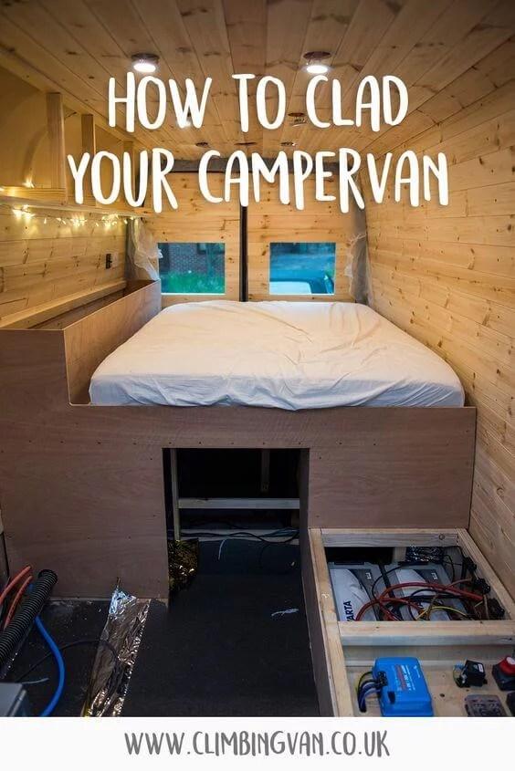 how to clad your campervan