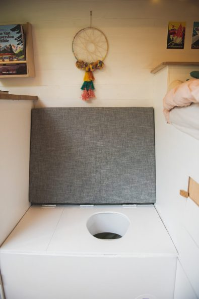 DIY composting toilet campervan using a urine diverter how to make
