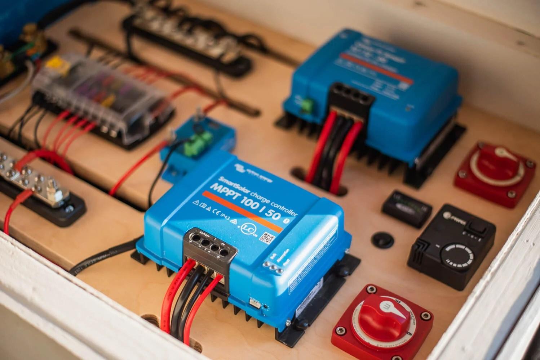 victron energy campervan electrical system climbingvan nomadic energy