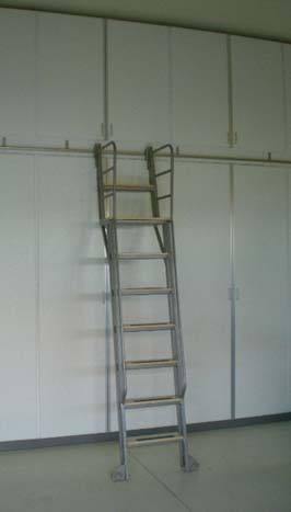 Custombuilt Library Ladders  Rolling Library Ladder  Wood  Metal