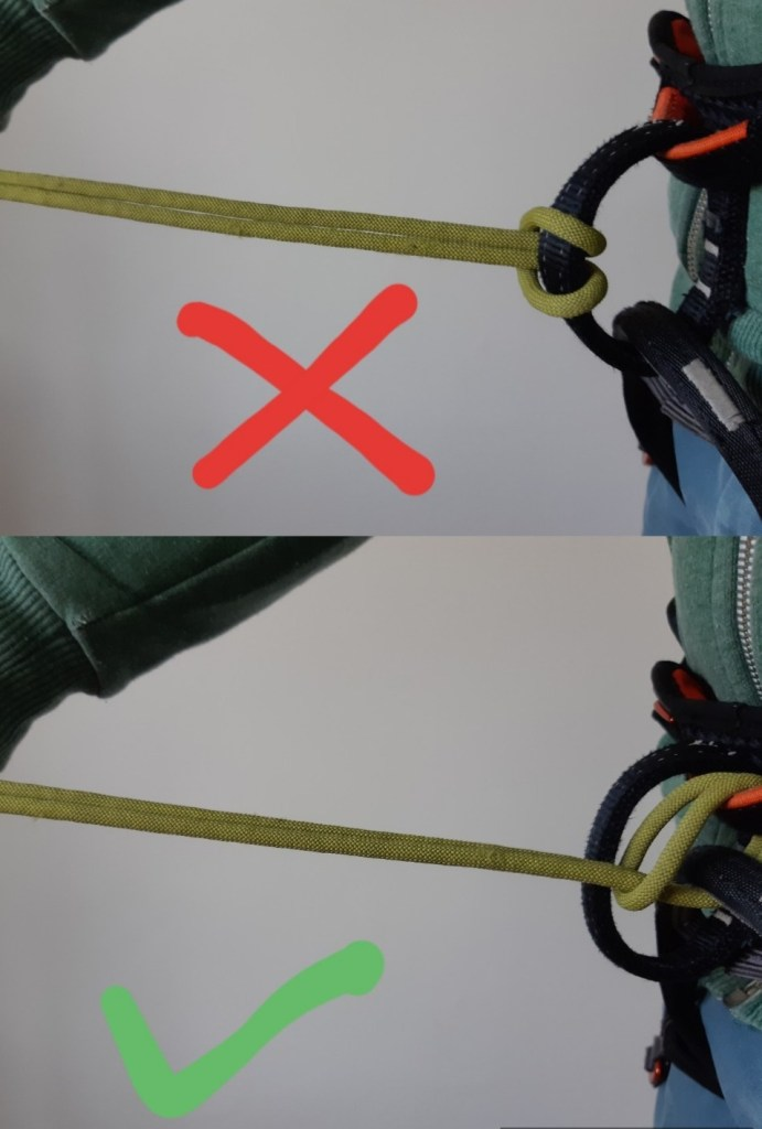 Connecting the sling to harness