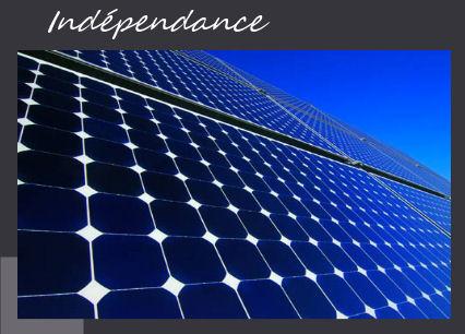 Indépendance via energie solaire