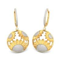 The Dainty Sunflower Earrings | BlueStone.com