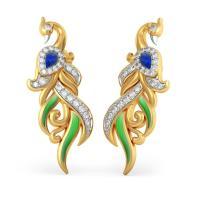 The Exotic Feather Earrings | BlueStone.com