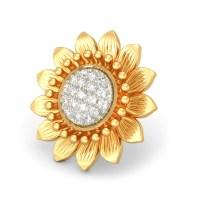 The Heavenly Sunflower Earrings   BlueStone.com