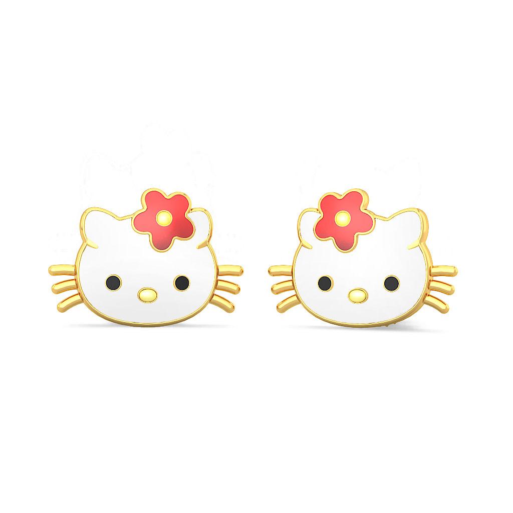 The Kitty Earrings For Kids