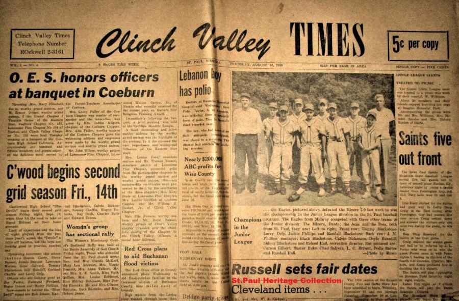 Clinch Valley Times, Aug. 28, 1958