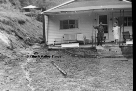 July 1, 1971 (23) mudslide, Glovier house, Hardy Hollow