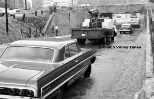 June 24, 1971 (33) Fourth Avenue Underpass Flooded