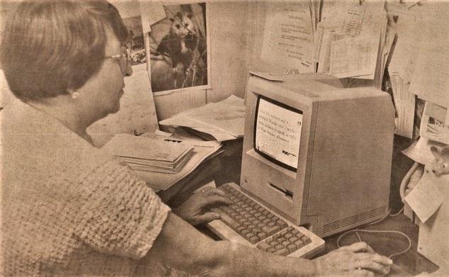 Ann using CVTs first Apple computer