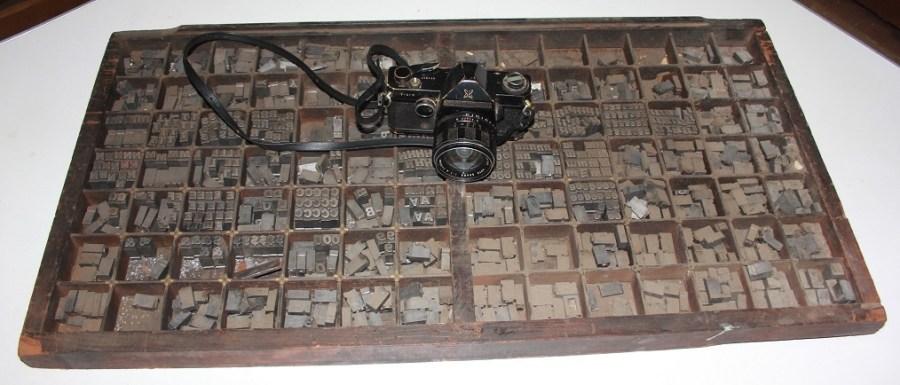 Letterpress Type & Sears Camera