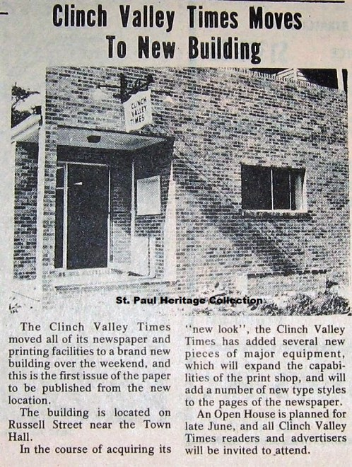 Clinch Valley Times Building, 1975