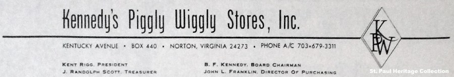Piggly Wiggly Letterhead
